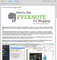 Blogging Tips | How to Blog | how to use Evernote for Blogging