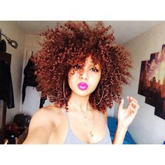 Them curls with that color!!!