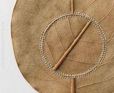Delicate Crochet Embellishments On Dry And Fragile Leaves By Susanna Bauer Textiles, Elegant Words, Crochet Art, Crochet Flower, Thread Crochet, Dry Leaf, Leaf Art, Weaving, Delicate