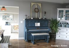Kammy's Korner: New Rustic Piano Scape {Mom Strikes Again}