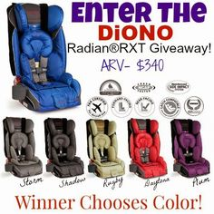Enter to win a Diono Radian RXT Car Seat! Thank you StellarManicMommy2 for this opportunity! ENDS 4/3/15! Go Enter!
