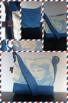 Beautiful Inkodye messenger bag by Tatiana Paolella!