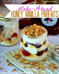 Make-Ahead Honey Vanilla Parfaits are the solution to your busy mornings! Make them the night before and enjoy in the morning!