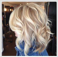 Short blonde cut