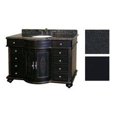 Kaco Arlington 48 Ebony Vanity With Black Granite Top
