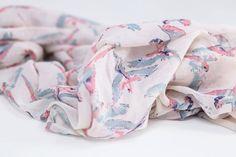 parrot cream scarf