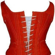 Red Wool 1850 Corset