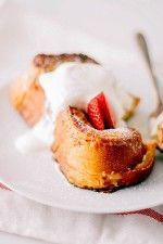 Strawberry Shortcake Stuffed French Toast