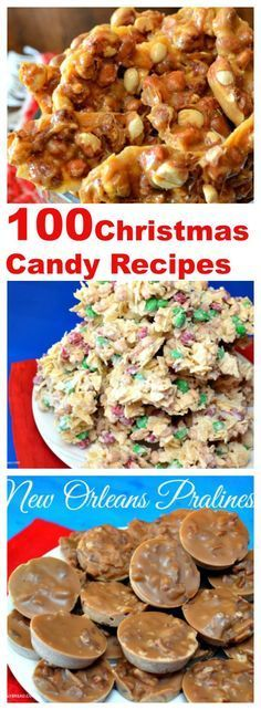 100 #Christmas Candy Recipes One of my favorite things to do during the… #DesertsFoodRecipes
