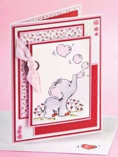 cute elephant valentine card