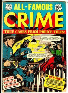 Pre-Code Crime Stories, Last Issue with Title, 11/51 L B Cole Cover G.Peltz Art Police File, Crime Comics, Pre Code, Classic Comics, Comic Covers, Golden Age, Horror, Comic Books, Superhero