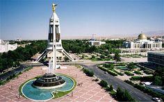 Ashgabat, the capital of Turkmenistan