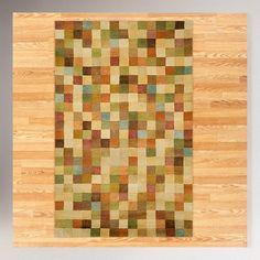 Squares Pastel Wool Tufted Rug