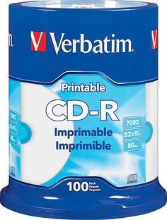Verbatim - 52x CD-R Discs (100-Pack) - White