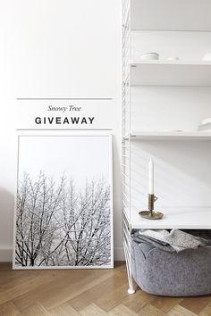 'Snowy Tree' print