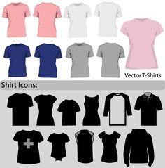 Free Blank T-Shirt Template Vector