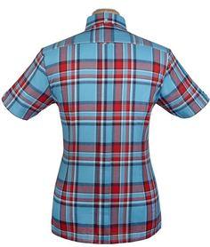 Brutus Trimfit Shirt Heritage Blue Red