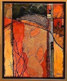 "CAROL NELSON FINE ART BLOG: Contemporary Mixed Media Abstract Art Painting ""Autumn Crossing"" by Colorado Mixed Media Abstract Artist Carol Nelson #abstractart"