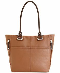 Tignanello Handbag, Pebble Leather Pocket Tote