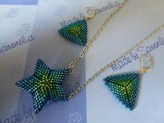 Étoile et triangle peyote