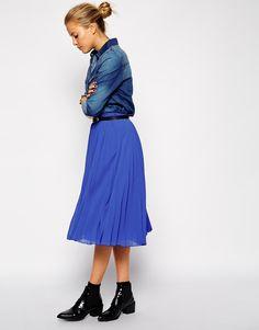 Enlarge ASOS Pleated Midi Skirt