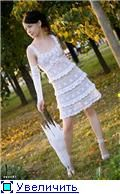 """""""Storm frills"""" at the request of knitting!  This could be the graphs used to hack this dress talked about in this russian crochet forum."""