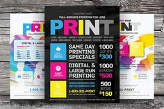 Check out Print Shop Flyer Template by kinzi21 on Creative Market