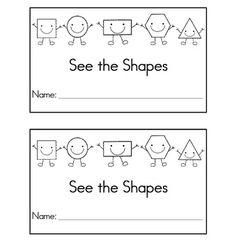 emergent reader book of shapes Kindergarten Literacy, Preschool Math, Teaching Math, Math Activities, 2d Shapes Kindergarten, Preschool Shapes, Learning Shapes, Abc Learning, Learning Resources