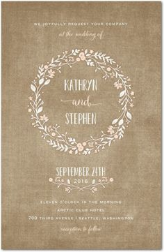 Looking for some fun and creative invitations for your rustic wedding? We have 32 Rustic Wedding Invitations that are sure to inspire you! Wedding Invitation Samples, Rustic Invitations, Wedding Invitation Design, Wedding Stationary, Bridal Shower Invitations, Invites, Invitation Templates, Wedding Paper Divas, Wedding Cards