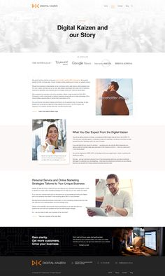 This digital marketing company website turned out to be simple for UI / UX sake. What do you think? Online Marketing Strategies, Seo Company, Say What, Growing Your Business, Ui Ux, Crayons, Digital Marketing, Web Design, Website