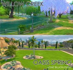 Empty Worlds Willow Creek & Oasis Springs at One Billion Pixels
