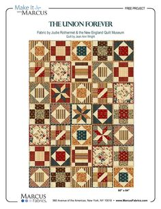 The Union Forever by Jean Ann Wright - free pattern on the Marcus Fabrics website :)  Beautiful!!