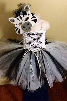 Zebra Tutu Costume with Mask  on Etsy, $60.00
