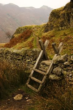 Stone Wall Ladder, Cumbria, England photo via called Cumbria, Lake District, Irish Cottage, All Nature, English Countryside, To Infinity And Beyond, British Isles, Country Life, Country Living