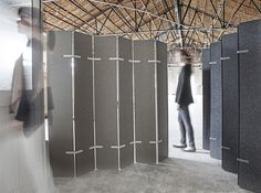 EchoPanel Paling - an environmentally friendly acoustic dividing screen made from PET fibres, 60% of which are recycled