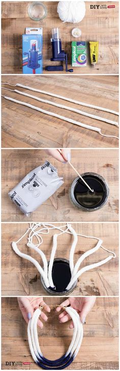 Tricotin e colori per tessuto: realizziamo una collana di lana dall'effetto sfumato!
