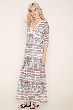 Crochet-Trim Maxi Dress