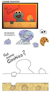 Cookie Monster Iris Fold card