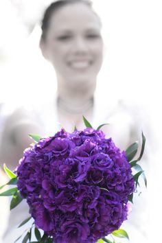My wedding bouquet...purple perfection!