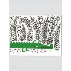 Crocodile Card by Lisa Jones Studio at Soma Gallery, Bristol, UK www.soma.gallery