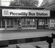 Piccadilly bus station 1995 - with decent cover compared with today's collection of bus shelters and urine soaked telephone kiosk. MMMMMmmm, that lovely M-Blem and Helvetica typeface. Manchester Love, Manchester City Centre, Manchester England, Old Pictures, Old Photos, Salford, Bus Station, British History, Best Cities