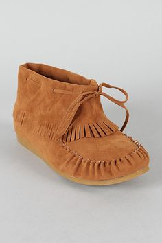 Bumper Noka-02 Bow Fringe Moccasin Ankle Bootie....   Could be cute with jeans???