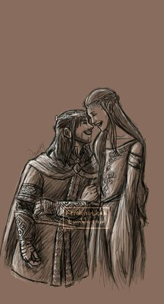 Kili & Tauriel - Now this is too idealistic for some, but this is how my head canon sees these two in years to come.
