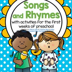 Circle time songs and rhymes for preschool Pre-K and Kindergarten.