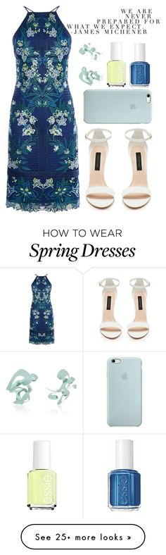 """Untitled #149"" by sewing-girl on Polyvore featuring Karen Millen, Forever New, Rosie Assoulin and Essie"