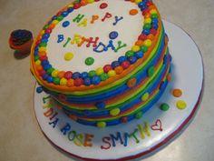 neon birthday cakes for teen girls Source http25media
