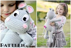 NEW PATTERN  Happy Hippo the Hippopotamus por IRAROTTpatterns, $5.50