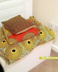 """26 Likes, 7 Comments - needlecentric@gmail.com (@needlecentric) on Instagram: """"NeedleCentric Contrast  #Handmade #Cushions #Orange #AfroCentric #Materials #Yellow #brown #Bed…"""""""