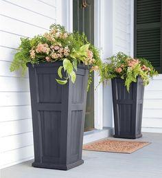Lexington Tall Self-Watering Planter modern outdoor planters