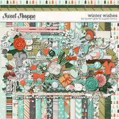 Winter Wishes by Lauren Grier & Sugary Fancy #winter #winterwishes #digitalscrapbook